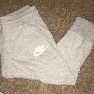nike grey light weight joggers
